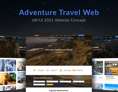 Travel Website UI Interface Design