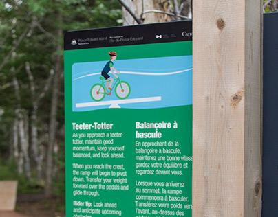 Robinsons Island Trail System Brand – wayfinding