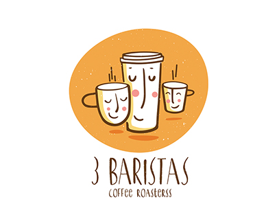 3 Baristas I Logo identity
