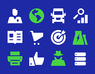 Icons for biometric products