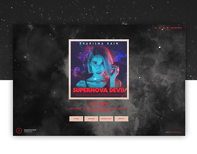 Supernova Devil Landing Page