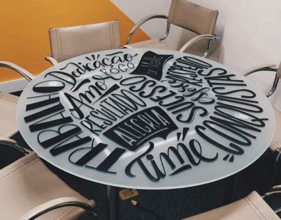 Handlettering on a Desk