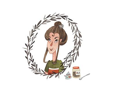 Tea shop girl