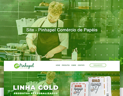 Web Site - Pinhapel Comércio de Papéis - Web Design