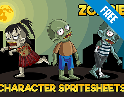 Free 2D Game Zombie Character