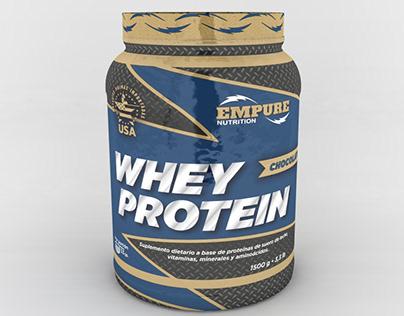3D Render   Whey Protein