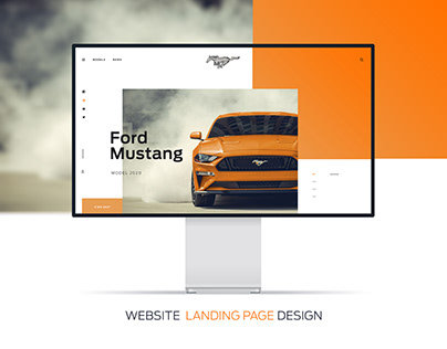 Ford Mustang 2020 - Website Landing Page Design