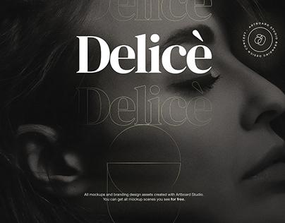 Delicè - Branding Design Concept with Artboard Studio