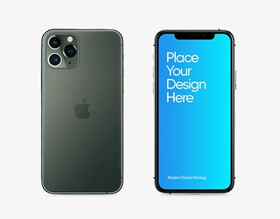iPhone 11 Pro Free Mockup PSD