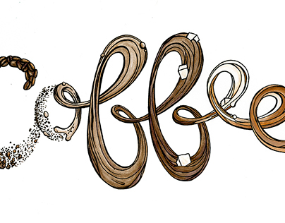 Coffee Illustrated Typography