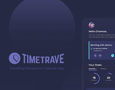 TimeTrave - Travelling Salesperson Calendar App Design