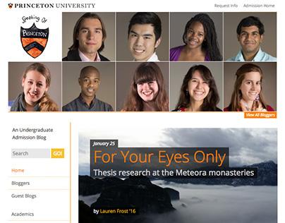 Speaking of... Princeton University Admissions Blog