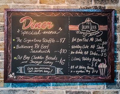 Diner menu - Signature theatre