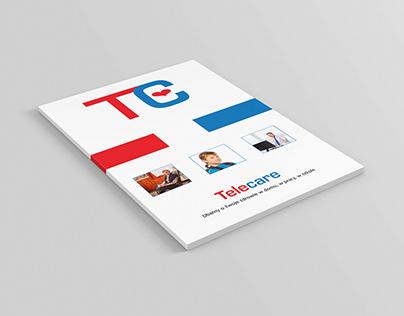 Projekt i wizualizacja folderu reklamowego
