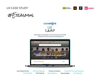 UX Case Study #Erasmus
