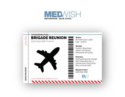 MedWish Brigade Reunion Invitation
