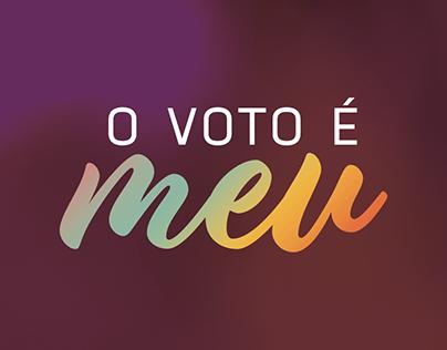 """Campanha """"O voto é meu""""/ TRE-SC"""