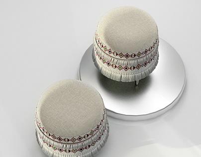 LeMak ottoman design by Valentine Mulwa