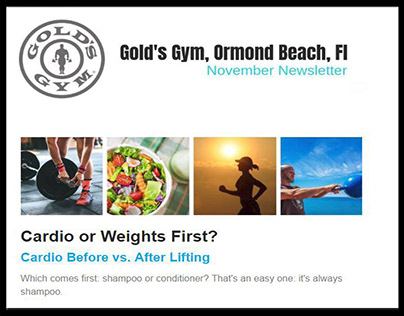 NEWSLETTERS: Gold's Gym