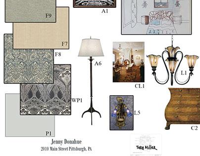 Art Nouveau Presentation Boards