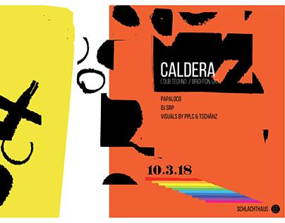 Caldera - Club Poster