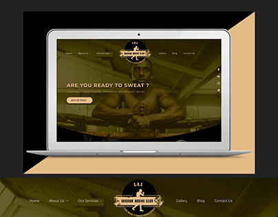 Page Design for Boxing Club