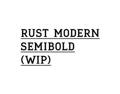 Rust Modern Font - WIP