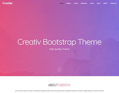 Creativity Bootstrap Theme