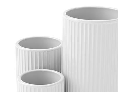Ceramic set #06   C4d+Corona   3d Model