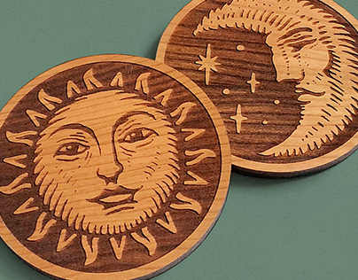 Sun & Moon Coaster Set
