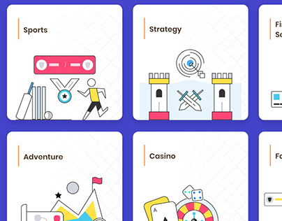 Game Business Categories Illustrations