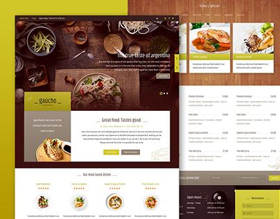 Gaucho - Restaurant/Cafe Template