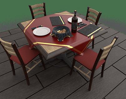 Dinner Scene - In progress