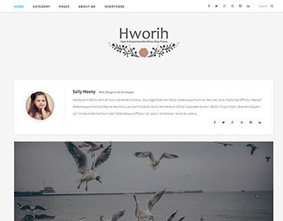 Hworih - Clean & Responsive WordPress Blog Theme