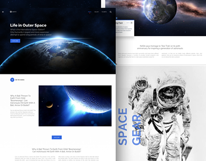 Concept Work for Earth Website