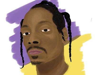 Digital painting - Snoop Dogg