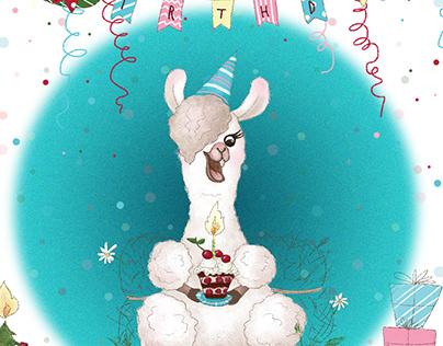 Llama birthday party