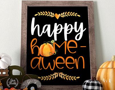 FREE Happy HOME-aween Printable 8x10-through 10/31!