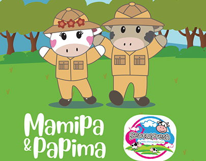 Mamipa & Papima Character on SentulFresh Promotion