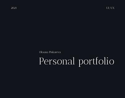 Personal UI/UX designer portfolio