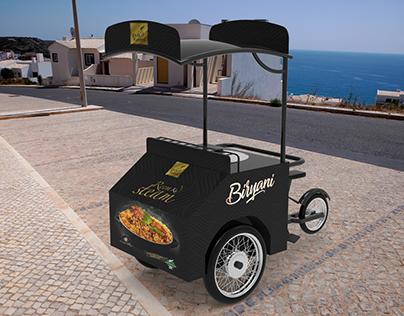 Reem Ka Stream Rice Biryani Food Tricycle Trolley