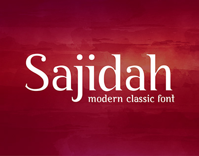 BY Sajidah Font Family