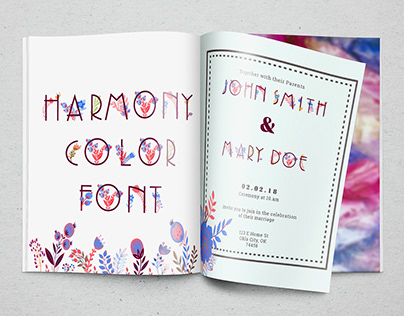 Harmony Color Font (free)