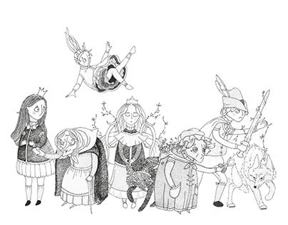 Character Design Grimm Fairytales