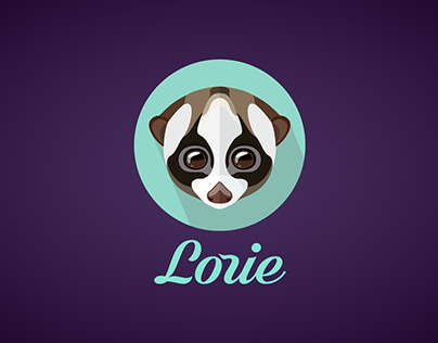 Logo for shop «Lorie». Logotype design. Лого