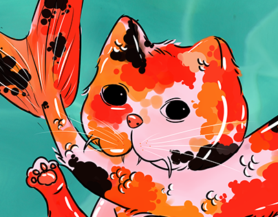 Koi Fish. Cat fish.