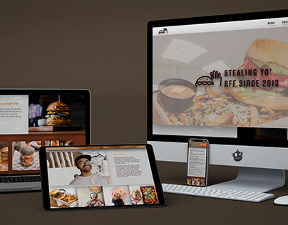 Burgers and Fries Forever Website Redesign Idea