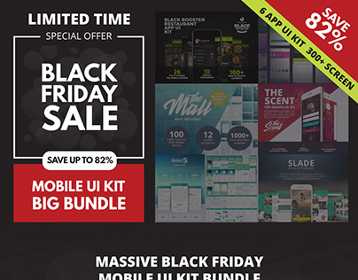 Black Friday Mobile UI Kit Bundle
