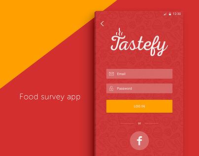 Tastefy App - Branding, Interface Design and UX
