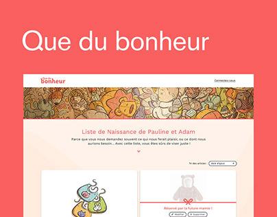 Création du site internet et des newsletters responsive